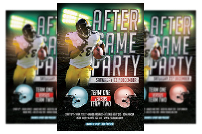 After Game Party - America football