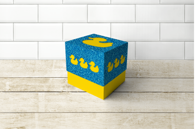 Rubber Ducky Cube Box With Lid   SVG   PNG   DXF   EPS