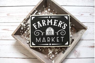 Farmer's Market Sign   SVG   PNG   DXF   EPS