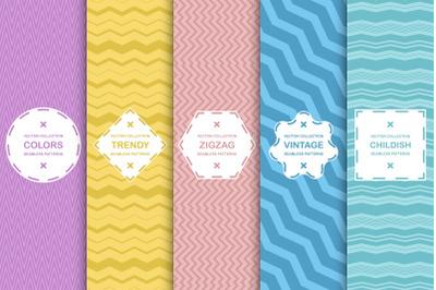Color backgrouds-zigzag patterns