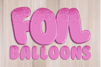 Foil Balloons Alphabet PNG Clipart