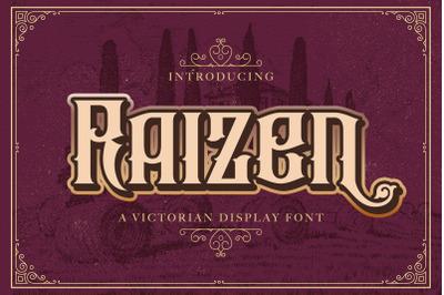 Raizen - Victorian Decorative Font