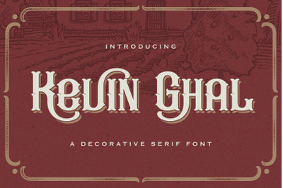 Kevin Ghal - Victorian Decorative Font