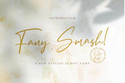 Fany Smash - Handwritten Font