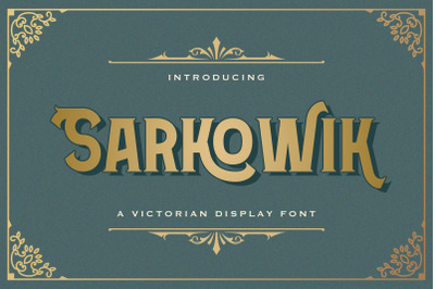 Sarkowik - Victorian Style Font