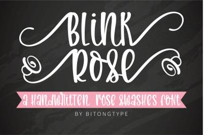 Blink Rose-A handwritten rose swashes font