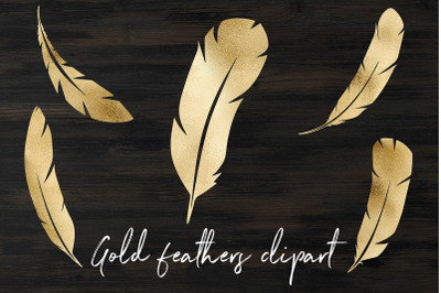 Gold feathers clipart