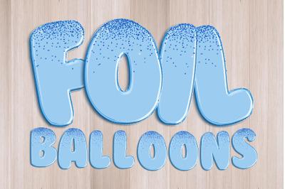 Blue Glitter Foil Balloons Alphabet Clipart PNG
