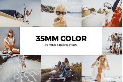 20  35mm Color LR Presets