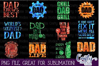 Dad Sublimation Bundle, Dad Life PNG, Father's Day Bundle