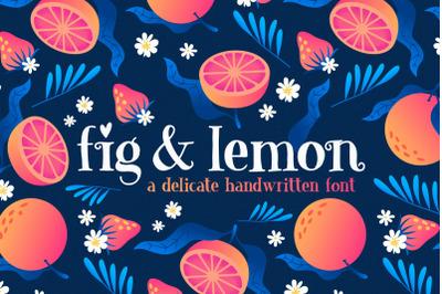 Fig & Lemon Serif Font (Hand Drawn Fonts, Crafter Fonts)