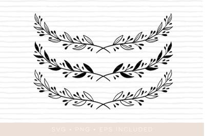 SVG laurel wreath cutfile. Laurel clipart EPS PNG SVG