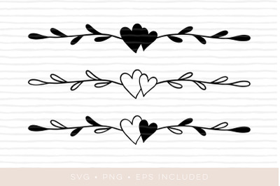 Heart Laurel Wreath SVG. PNG and EPS included