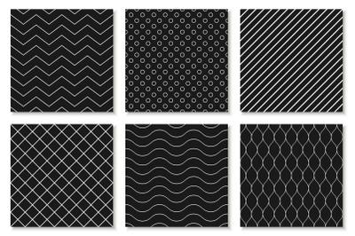 B&W seamless geometric patterns/card