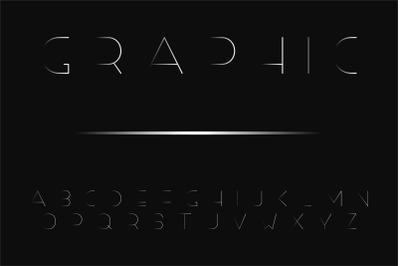 Gradient thin minimalistic letters