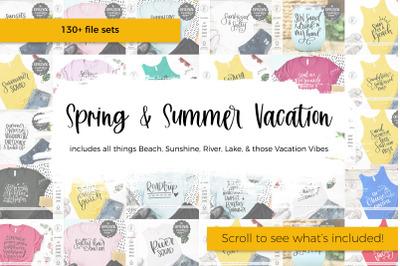 Spring and Summer Vacation SVG Bundle