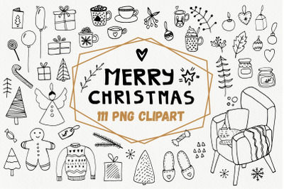 Christmas PNG, winter clipart set