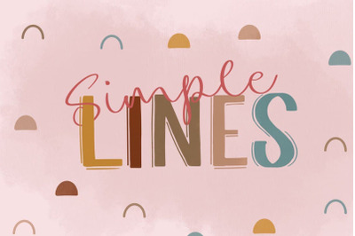 Simple Lines Font Duo