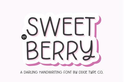 SWEET BERRY Handwriting Font