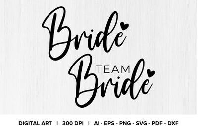 Bride & Team Bride Quote Graphics
