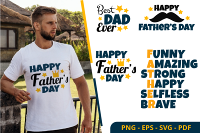 Father Day Cliparts Sublimation Design