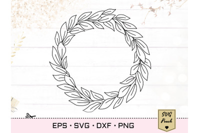 Leaves wreath SVG