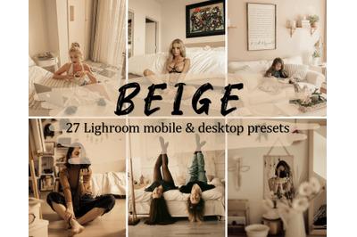 Beige Lightroom Presets, Mobile & Desktop Lightroom Presets