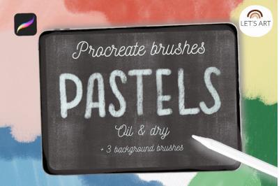 Procreate pastels brushes, olil pastel, dry pastel