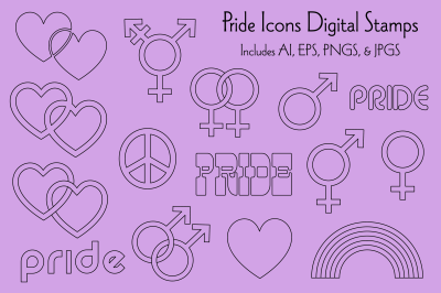 Pride Icons Digital Stamps