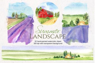 Summer Landscape clipart