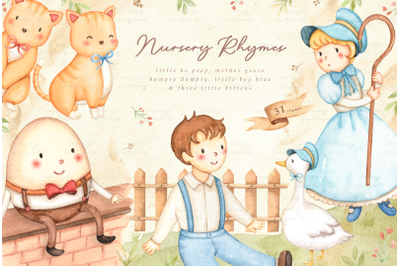 Nursery Rhymes V.1 Watercolor Set