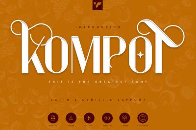Kompot Display - 2 fonts
