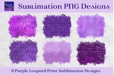 Sublimation PNG Designs - Purple Leopard Print Images