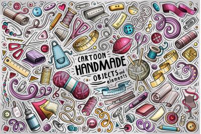 Handmade Cartoon Objects Set