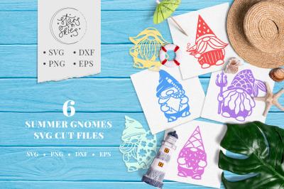 Summer Gnomes SVG Cut Files