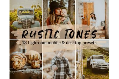 18 Rustic Lightroom Presets Pack, Mobile & Desktop Lightroom Presets