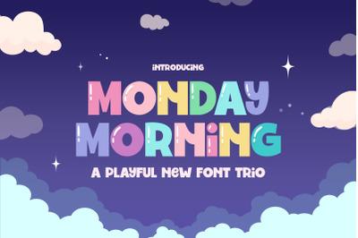 Monday Morning Font (Fun Fonts, Kids Fonts, Cute Fonts)