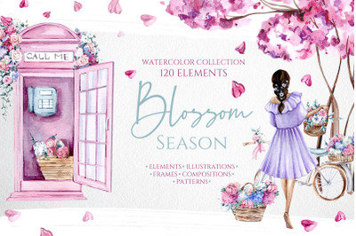 Watercolor Blooming Season Collection