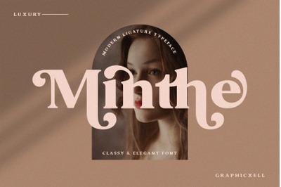 Minthe - Serif Font