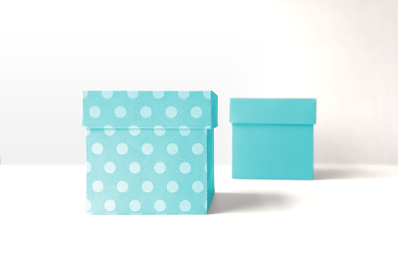 Cube Box With Short Lid | SVG | PNG | DXF | EPS