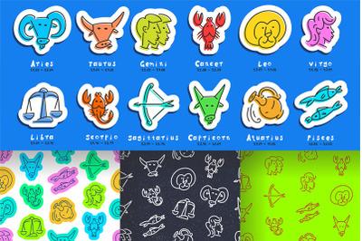 Zodiac signs + pattern