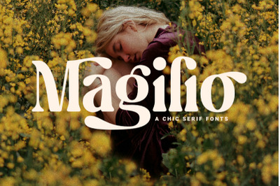 Magilio - A Chic Serif Fonts