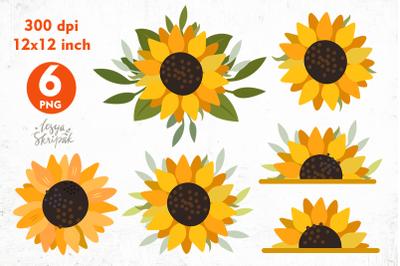 Sunflower sublimation PNG. sunflower bundle. sun flowers