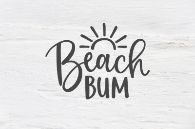 Beach bum vector cut file, SVG, DXF, EPS, PNG