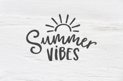 Summer vibes SVG, EPS, PNG, DXF cut file