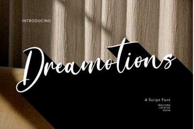 Dreamotions Handwritten Script Font