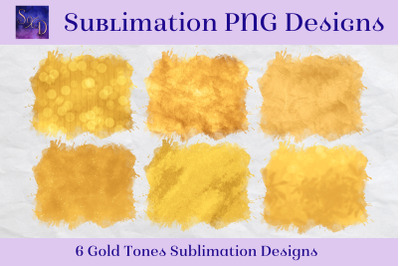 Sublimation PNG Designs - Gold Tones Images