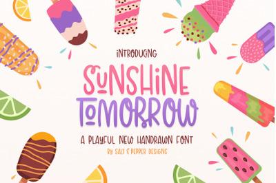 Sunshine Tomorrow Font (Curly Fonts, Handwritten Fonts)