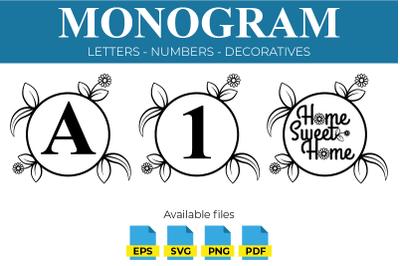 Monogram Designs - SVG PNG EPS PDF
