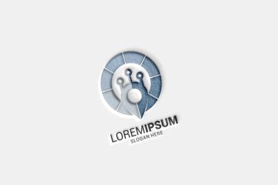 Tech Pin Logo Template